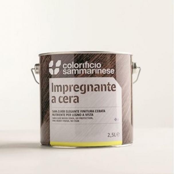 sammarinese sammarinese samover colore greige 0,75 lt finitura cerata per legno