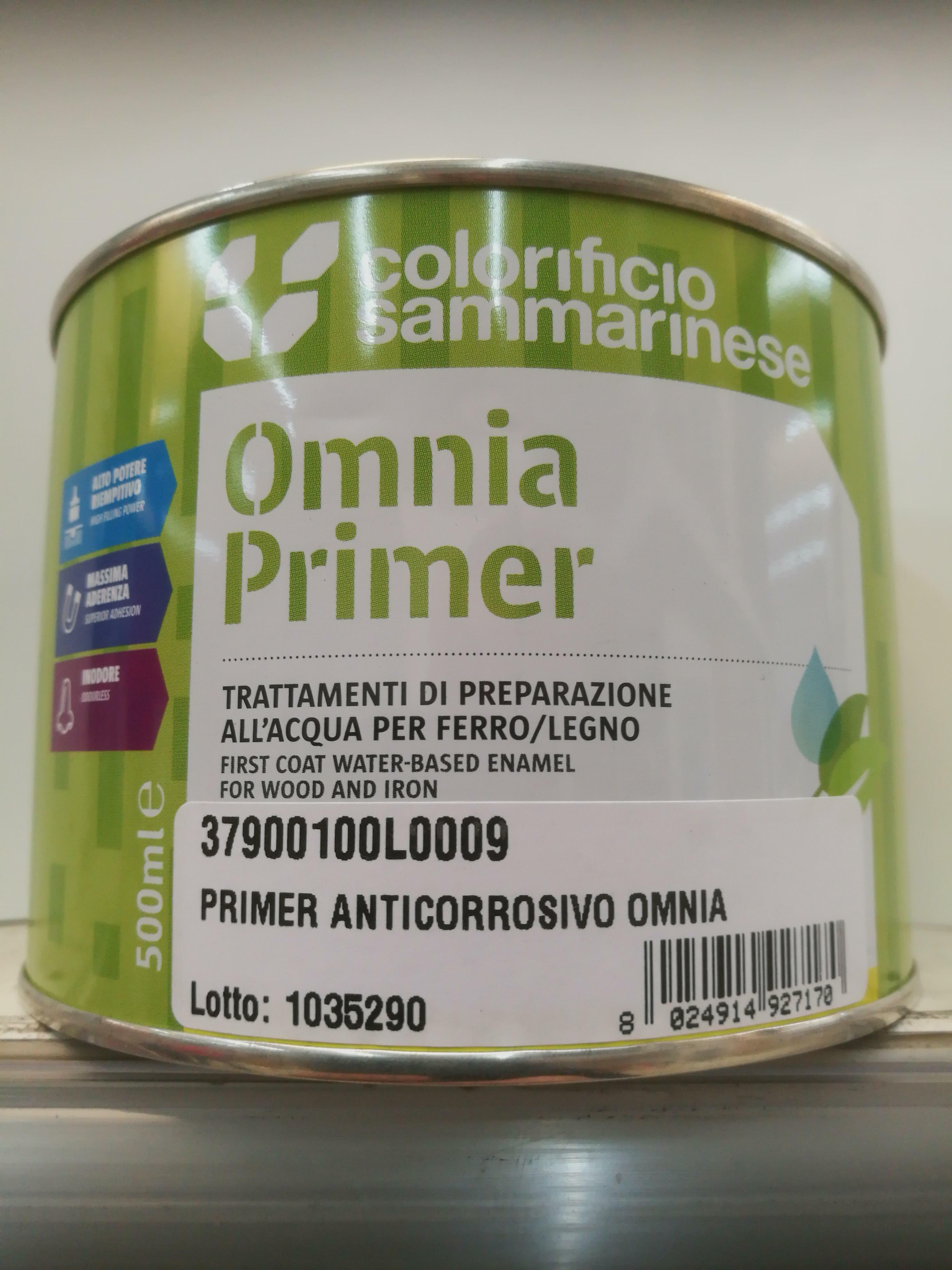 sammarinese sammarinese primer anticorrosivo bianco omnia 0,5 litri fondo all'acqua per legno, ferro e lamiera zincata
