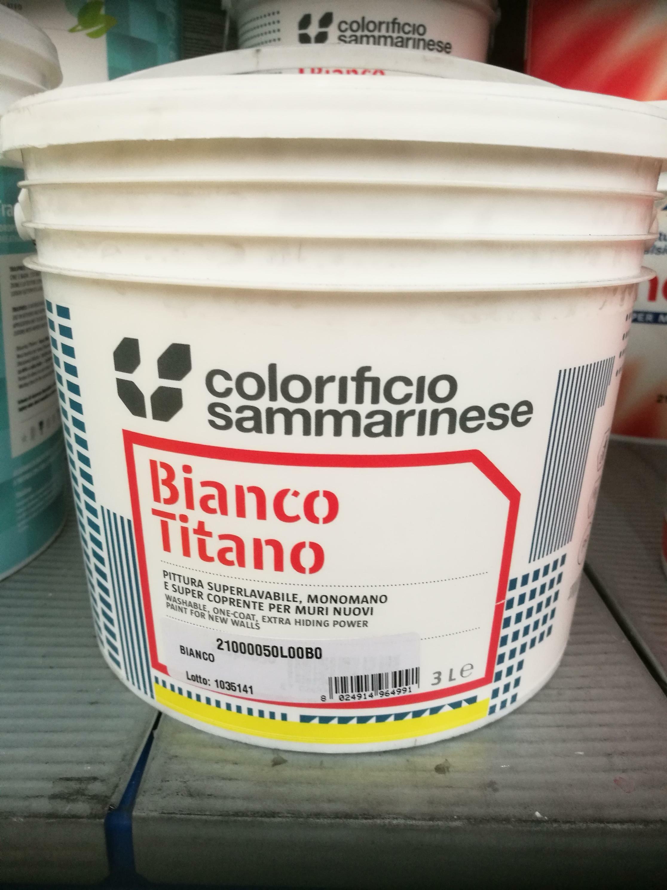 sammarinese sammarinese bianco titano 3 litri pittura lavabile opaca supercoprente