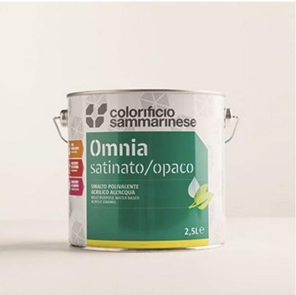 sammarinese sammarinese omnia smalto bianco opaco 2.5 litri all'acqua