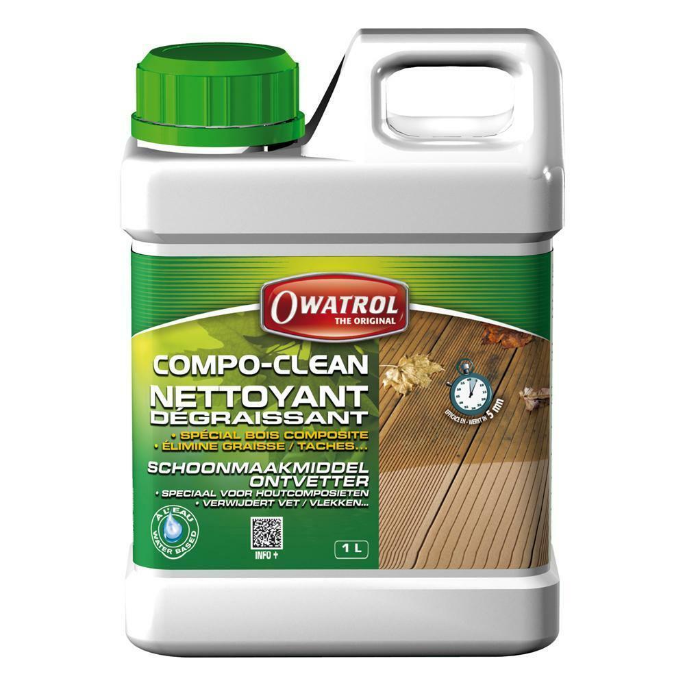 owatrol owatrol compo-clean 1 lt detergente sgrassante per legno