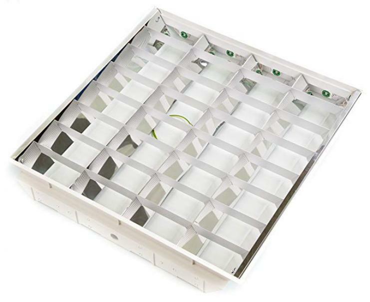 akifix akifix plafoniera alluminio b.co 60x60 4x18w cod.namcp06002g