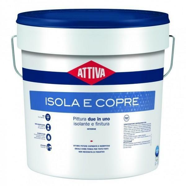 attiva isola e copre bianco/base1 12 lt pittura per interno isolante e di finitura