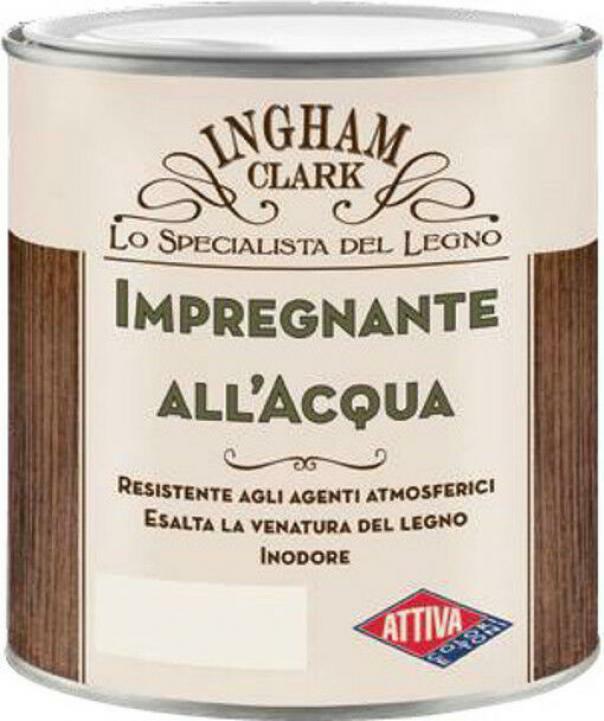 attiva ingham clark impregnante per legno all' acqua colore quercia 0,750 lt