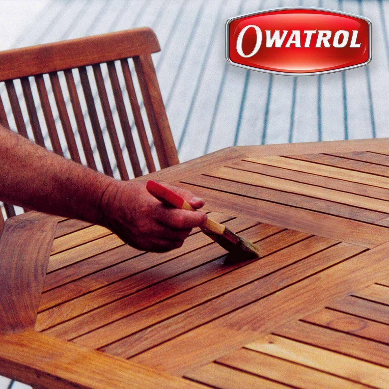 owatrol owatrol teak olje 2,5 lt protezione incolore trasparente opaca oleosa per teak e mobili da giardino