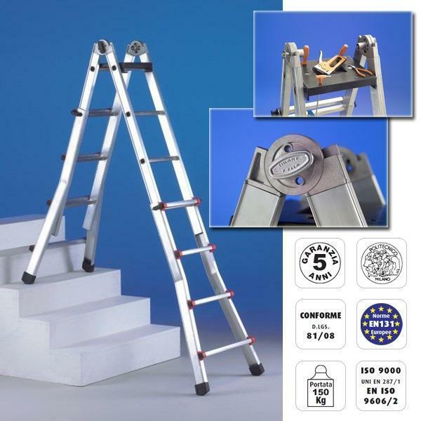svelt svelt scala scalissima alluminio 9+9 gradini