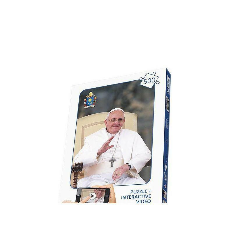 giocattoli puzzle 500 pezzi interattivo - papa francesco 51008