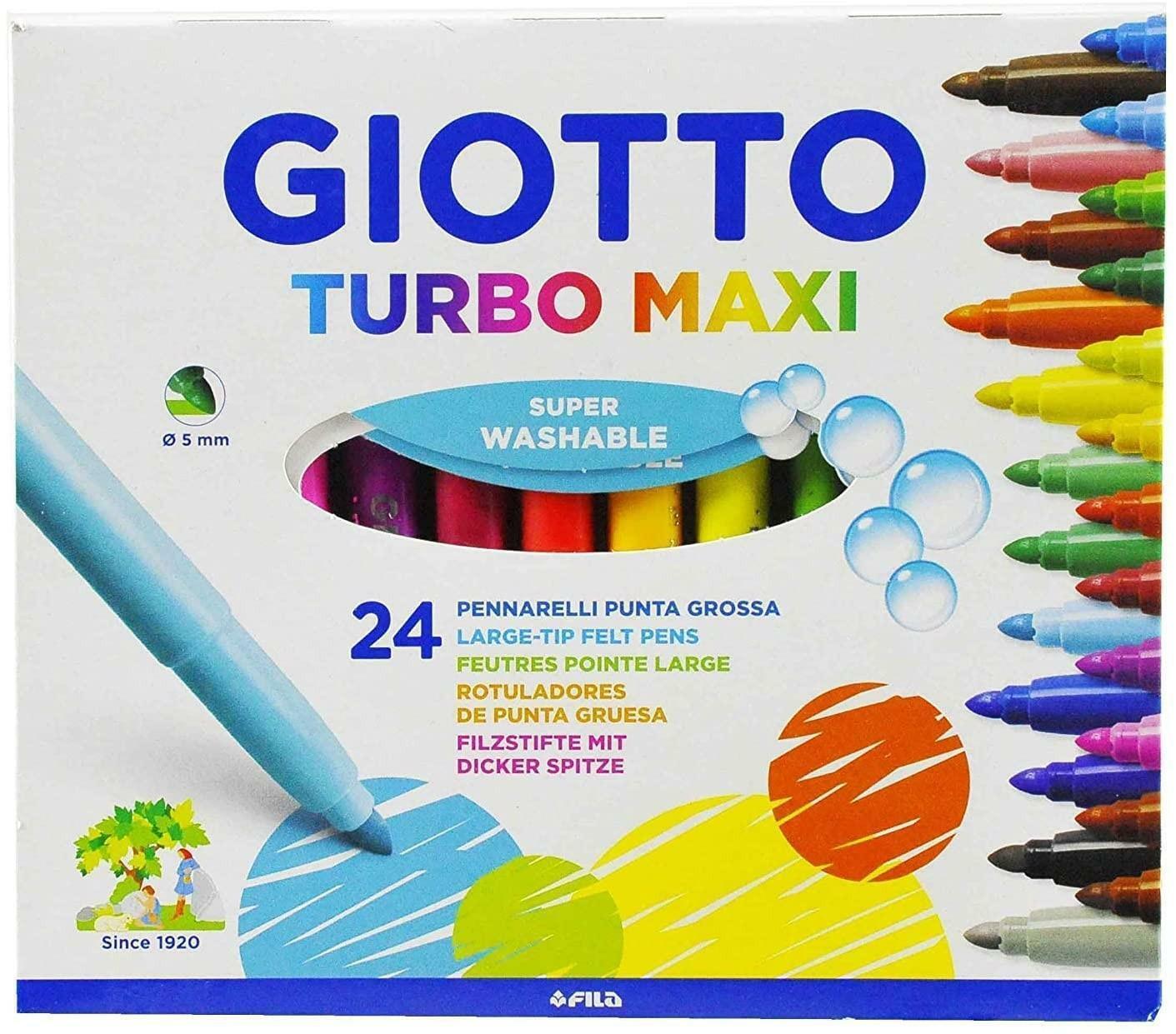 giotto giotto pennarelli punta grossa lavabili turbomaxi c.f. 24