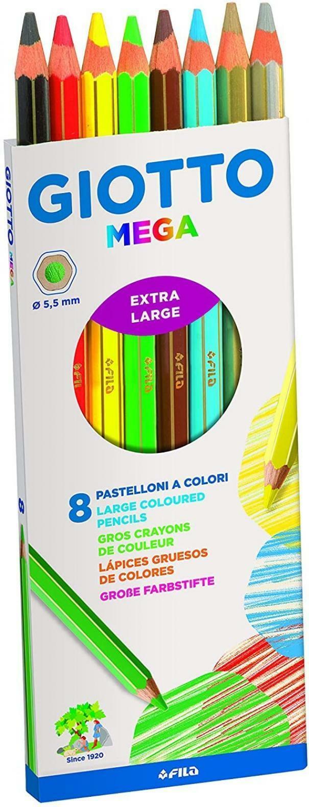 giotto giotto pastelloni a colori extralarge c.f. 8