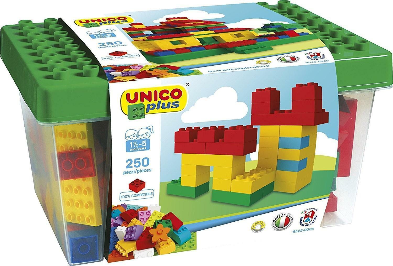 androni giocattoli androni giocattoli unico plus cesto mattoncini colorati 250 pz