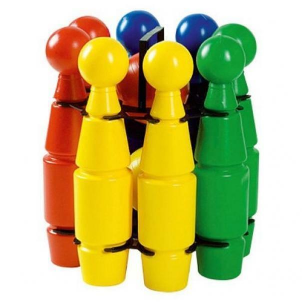 androni giocattoli androni set 8 birilli + 2 bocce