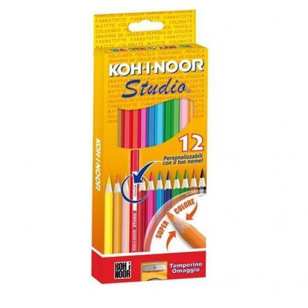 giocattoli pastelli studio c.f 12 matite colorate
