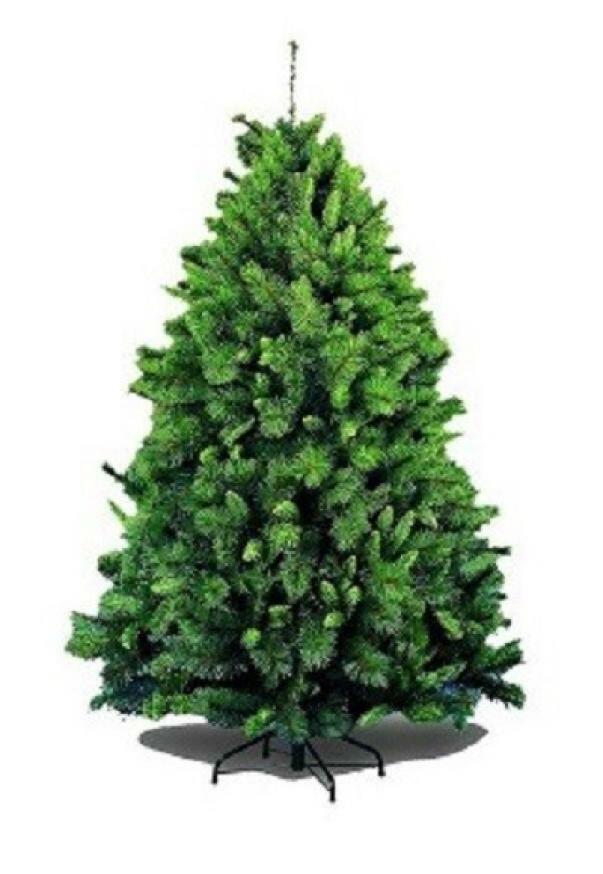 giocoplast giocoplast albero di natale germogliato - verde, 150 cm, 520 rami ,base in ferro