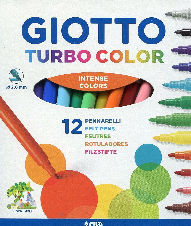 giotto giotto pennarelli turbocolor c.f. 12