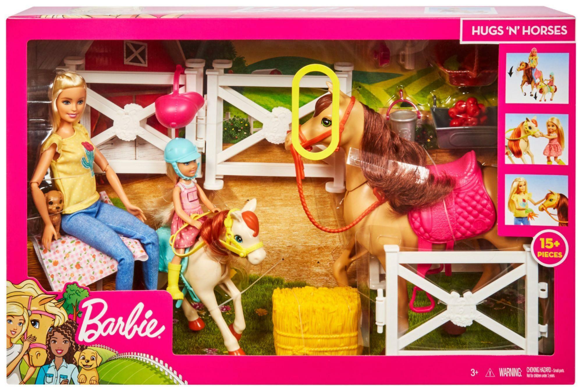 mattel mattel barbie ranch di barbie e chelsea