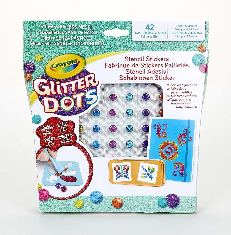 crayola glitter dots - stencil adesivi