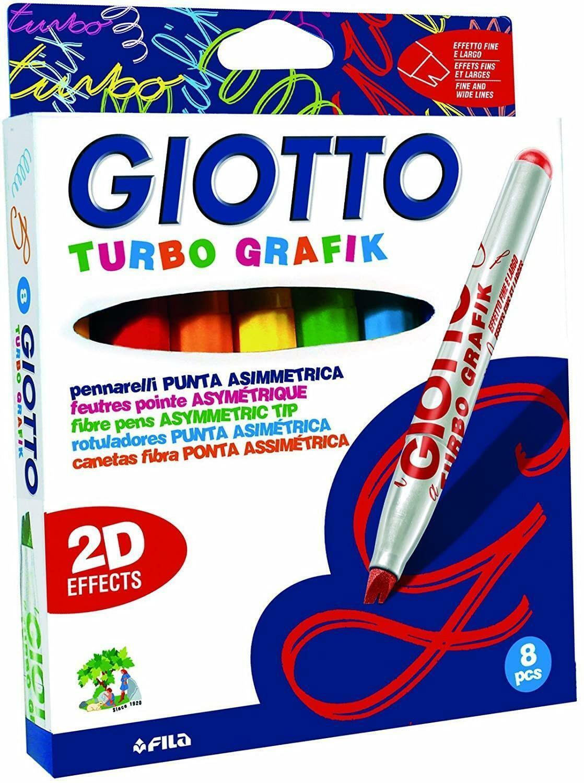 giotto giotto pennarelli punta asimmetrica turbo grafik c.f. 8