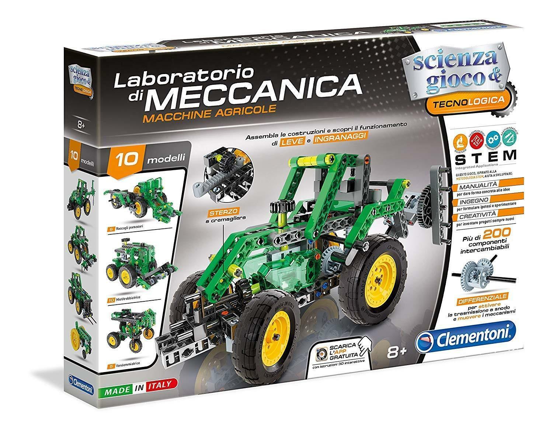 clementoni clementoni scienza & gioco - laboratorio di meccanica - macchine agricole 19036