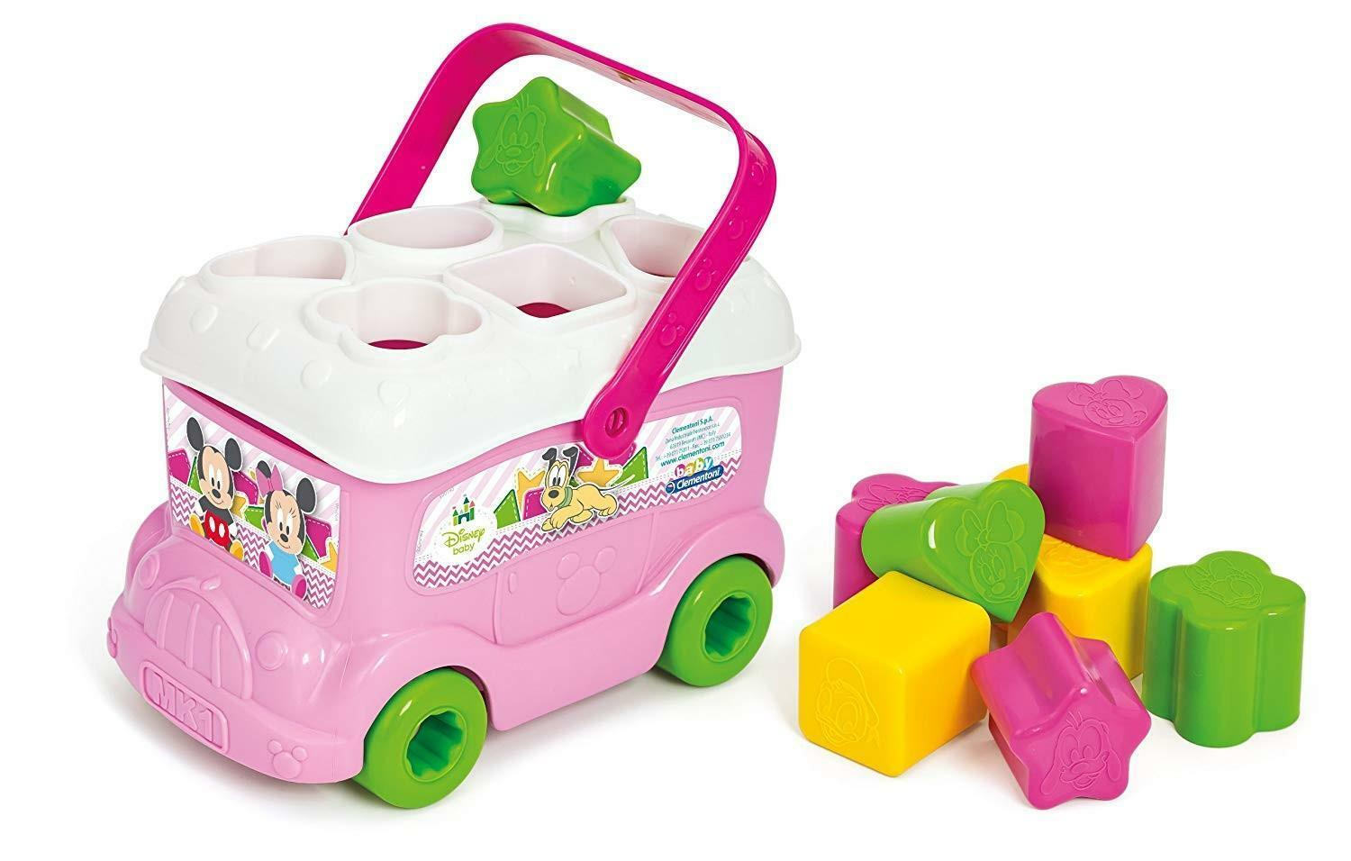 clementoni baby minnie bus inserimento forme 14933