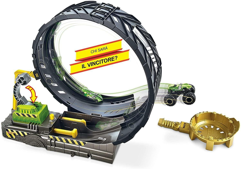 mattel mattel hot wheels - monster truck sfida nel loop