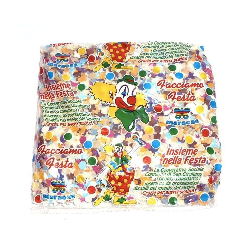 giocattoli 1 busta coriandoli multicolor gr 200