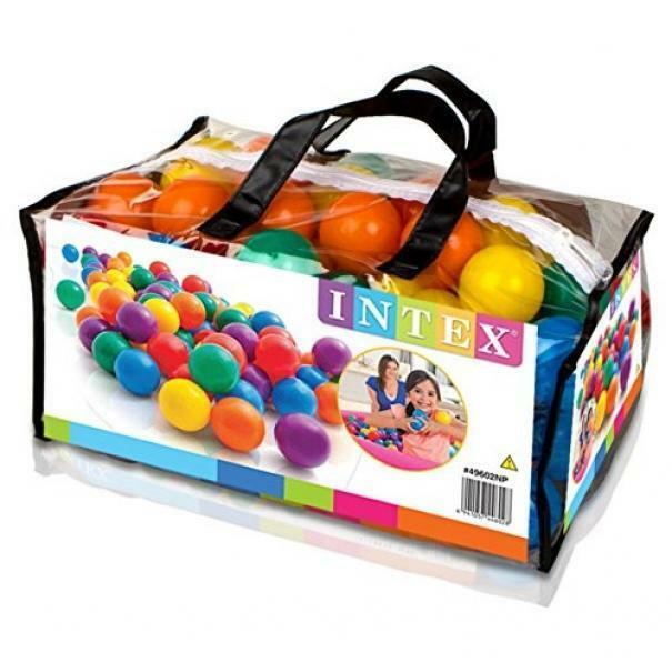 intex intex set 100 palline colorate da 6,5 cm