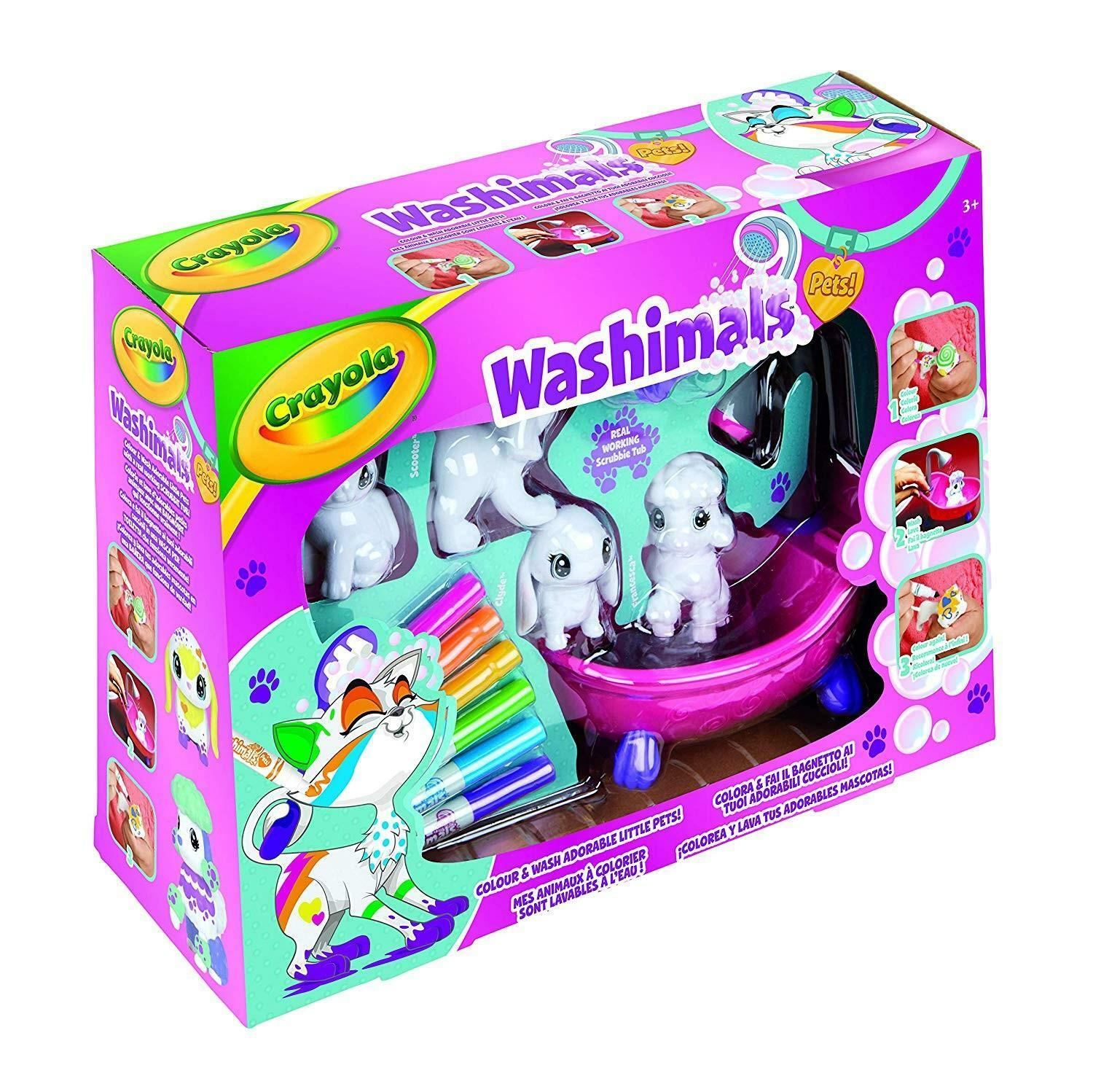 crayola washimals set attivita' colora e bagnetto