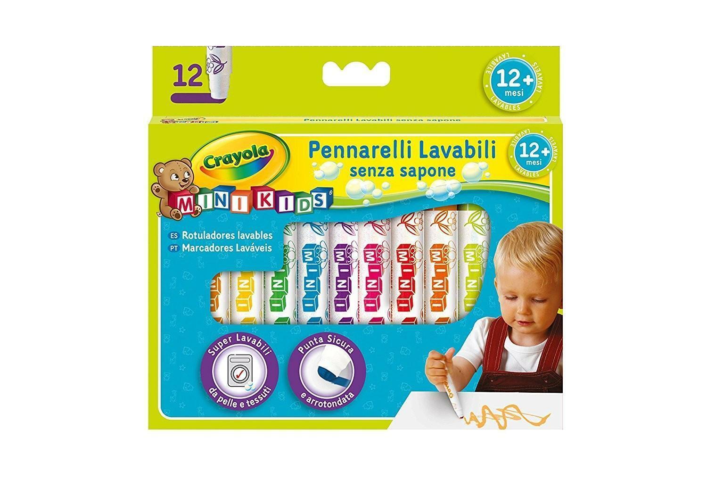 crayola mini kids 12 pennarelli super lavabili punta arrotondata