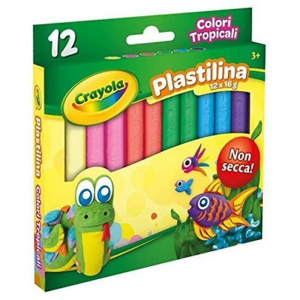 crayola plastilina 12 colori tropicali