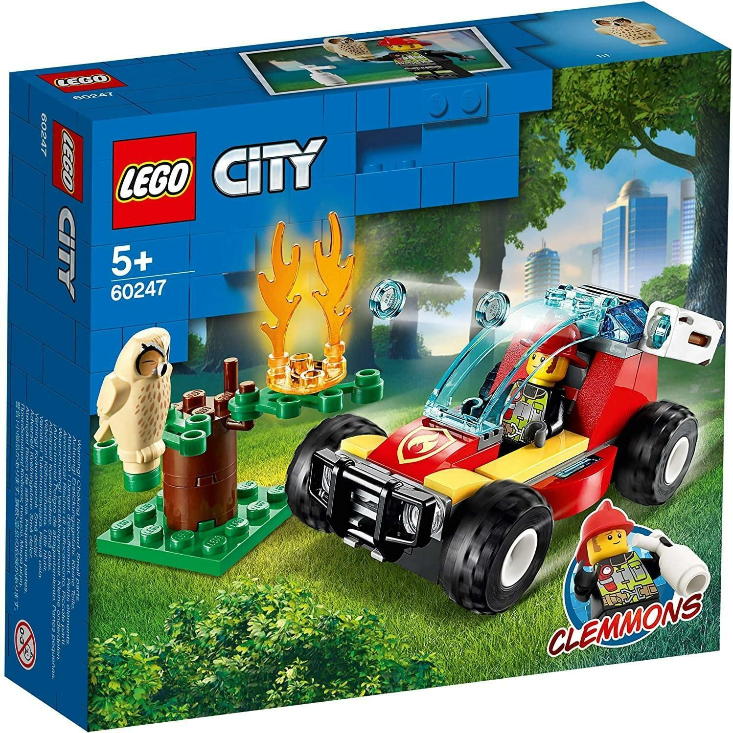 lego lego city 60247 - incendio nella foresta