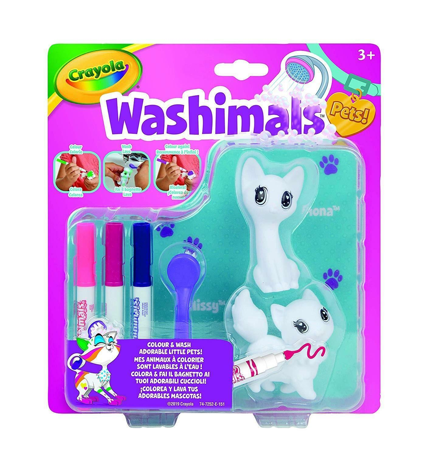 crayola crayola washimals set ricarica gattini