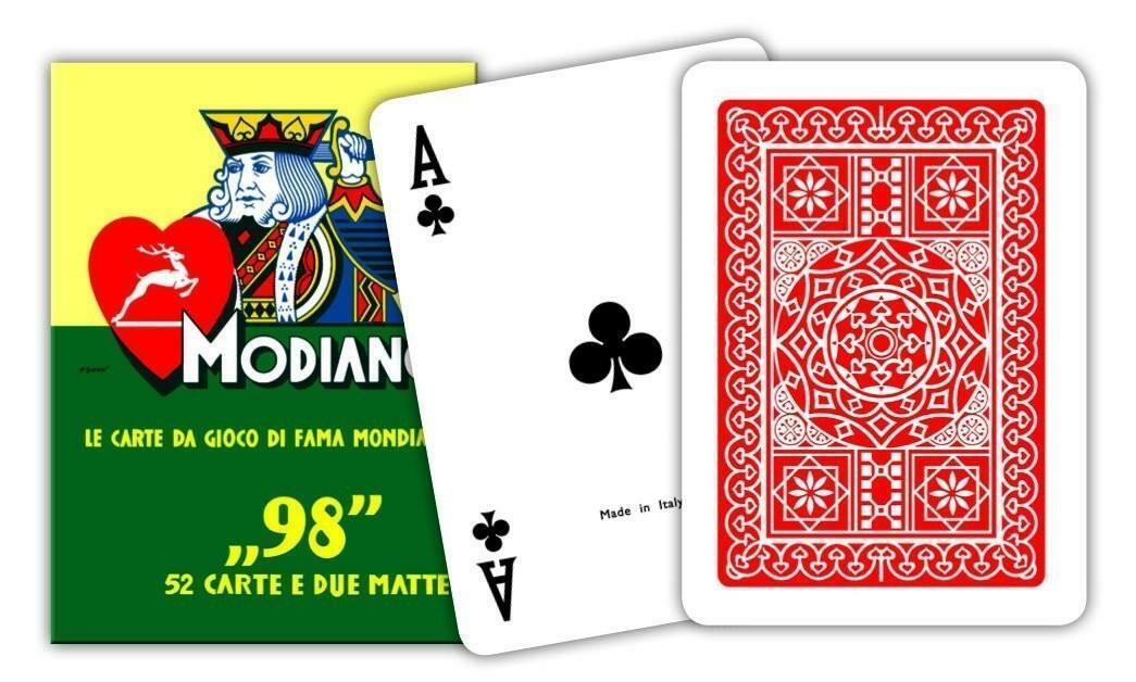 modiano modiano carte da gioco poker n 98 colore rosso
