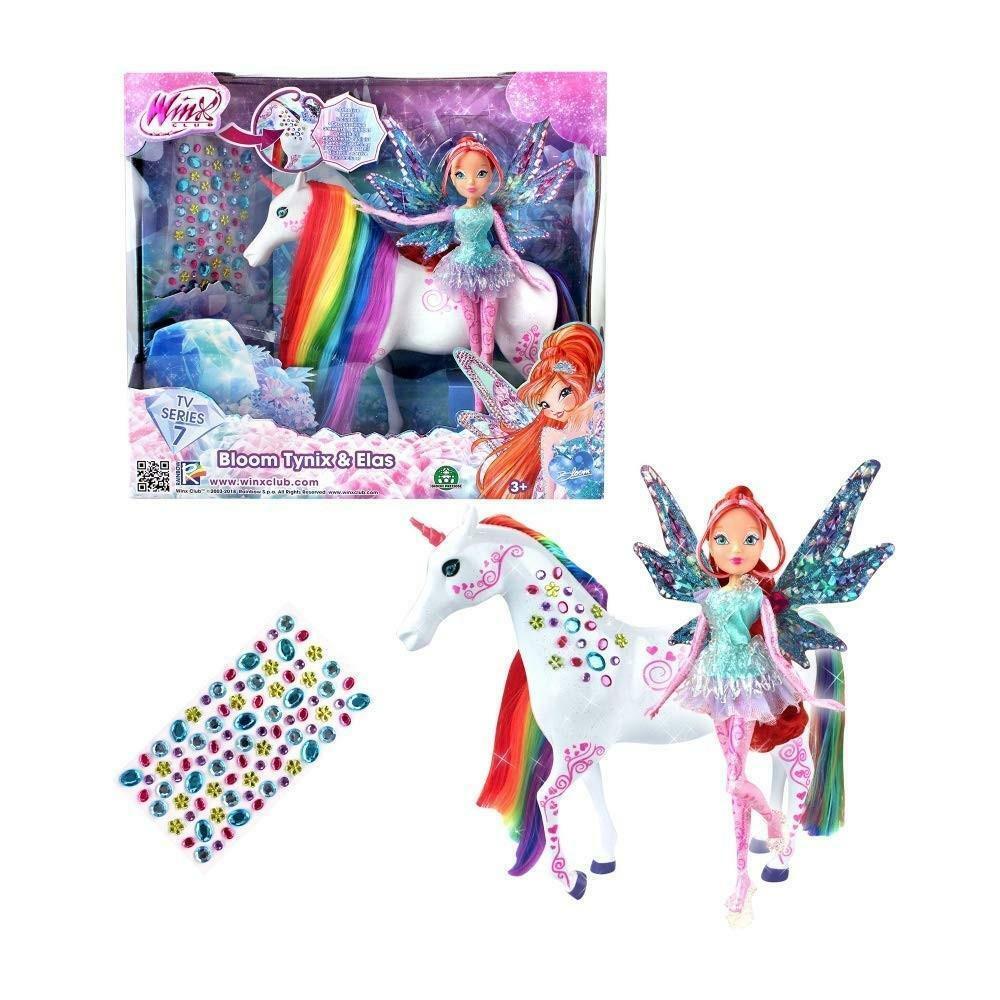 giochi preziosi winx series 7 - bambola tynix bloom con unicorno elas