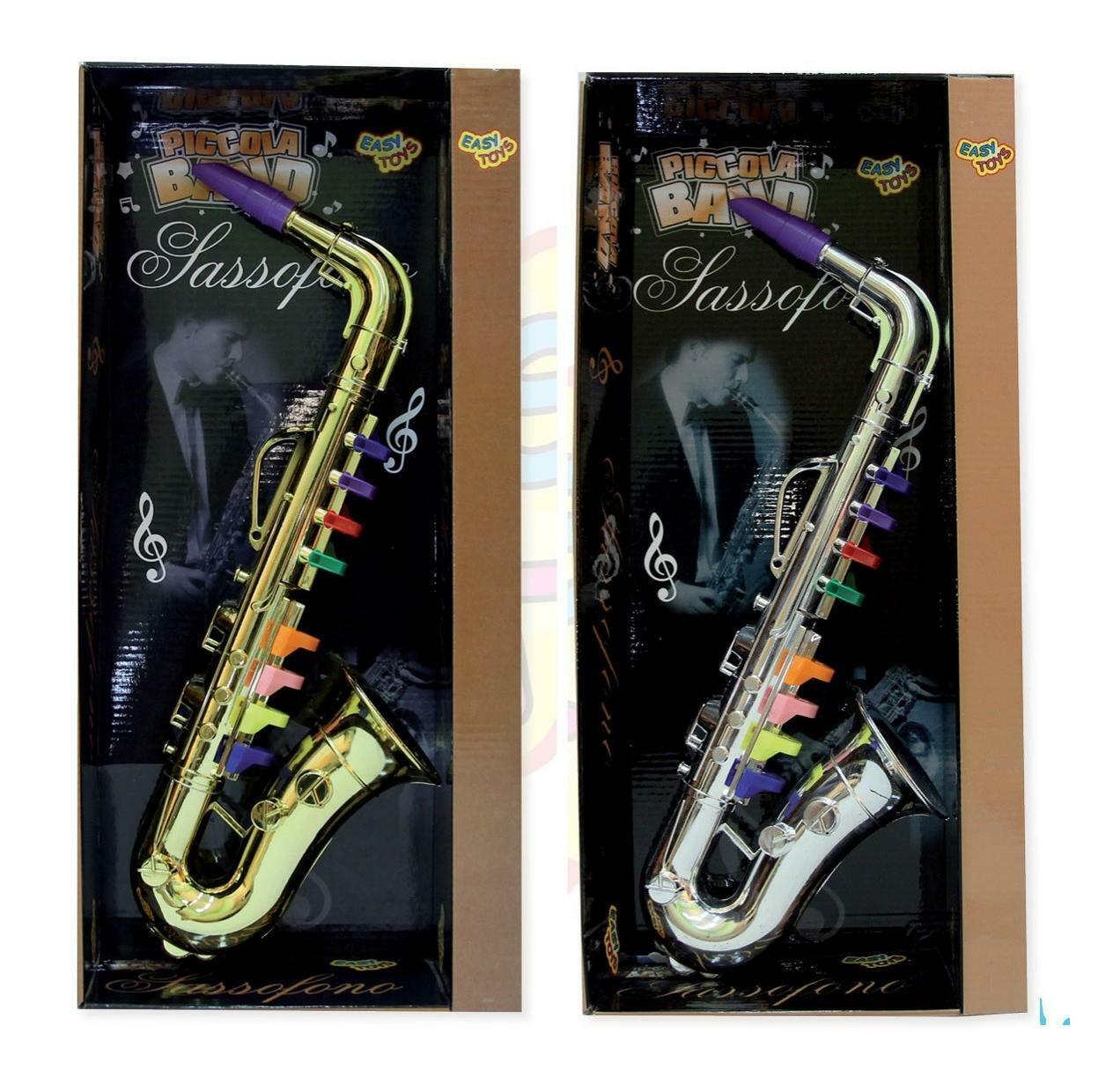 giocattoli sassofono cromato 40 cm