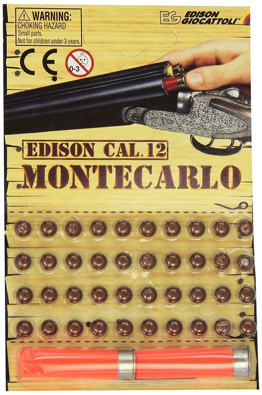 edison giocattoli edison giocattoli cartucce ricarica per fucile montecarlo 40 colpi 125db calibro 12