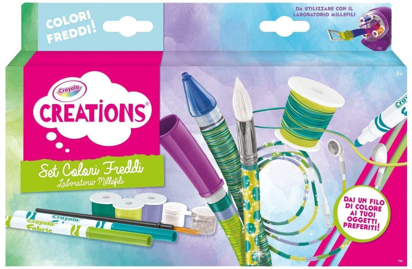 crayola set colori caldi per laboratorio millefili