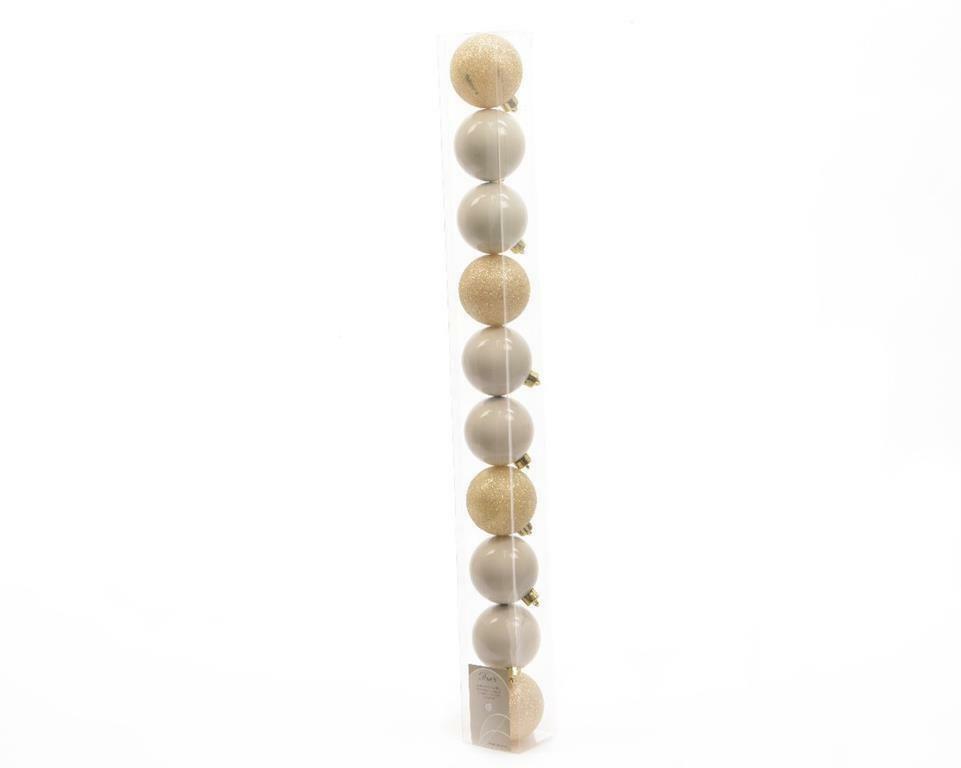 kaemingk 10 palle r 6 cm - colore bianco lana