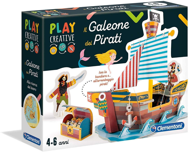 clementoni play creative 18549 - il galeone del pirata
