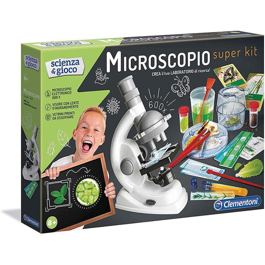 clementoni clementoni scienza & gioco - microscopio super kit 13967