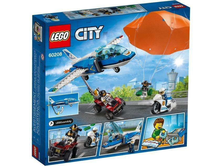 lego lego city 60208 - arresto con il paracadute della polizia aerea
