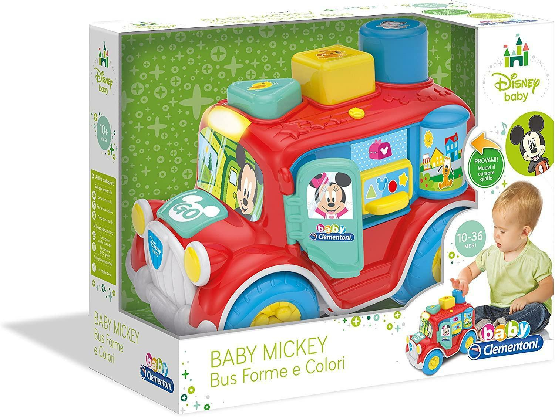 clementoni baby mickey bus forme e colori 17238