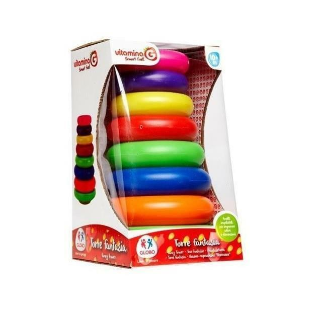globo globo vitamina g - torre impilabile arcobaleno