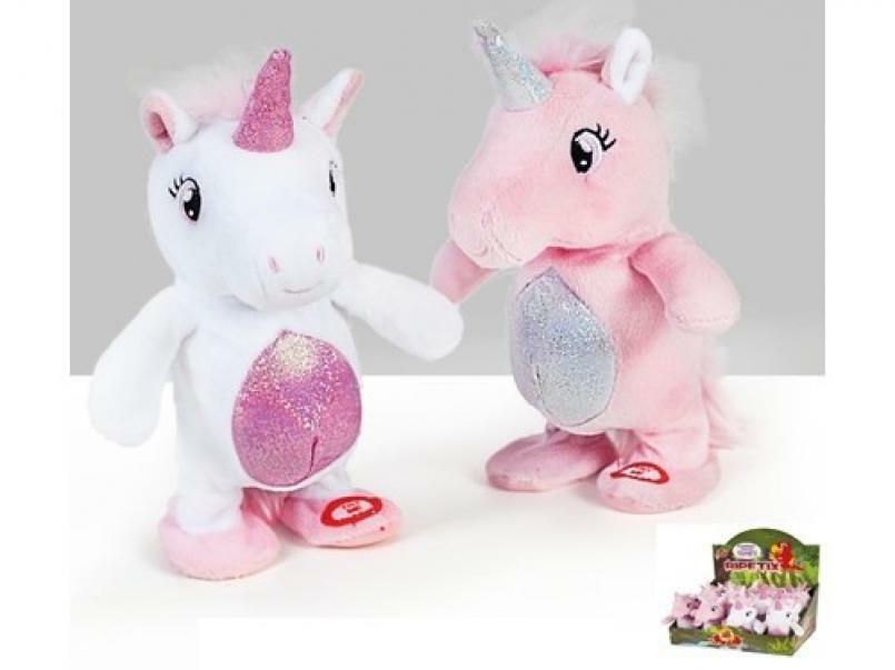 decar2 decar2 unicorno ripetix 20 cm - ripete e cammina