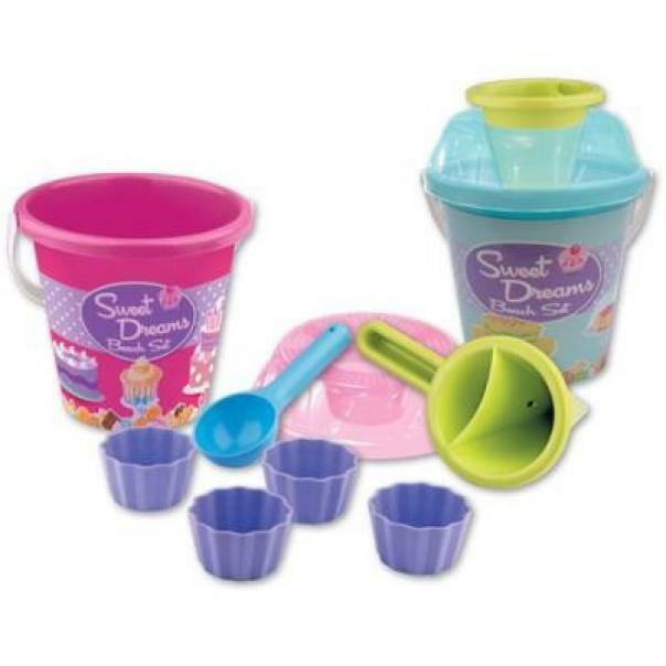androni giocattoli androni giocattoli secchiello con accessori dreams beach set