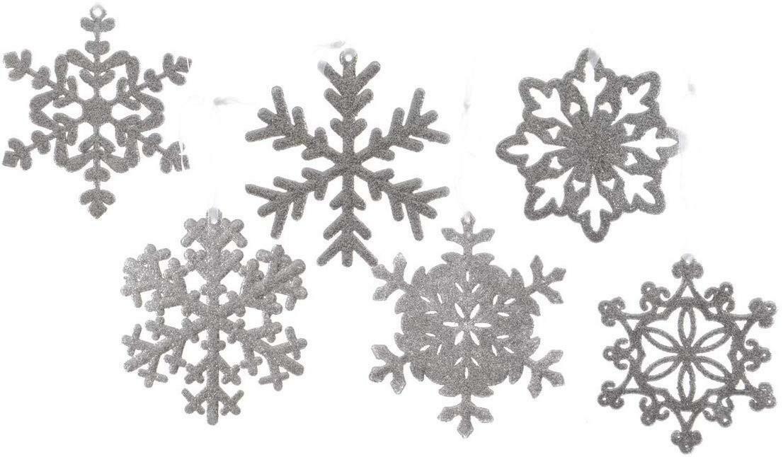 kaemingk kaemingk pendente natalizio fiocco neve argento
