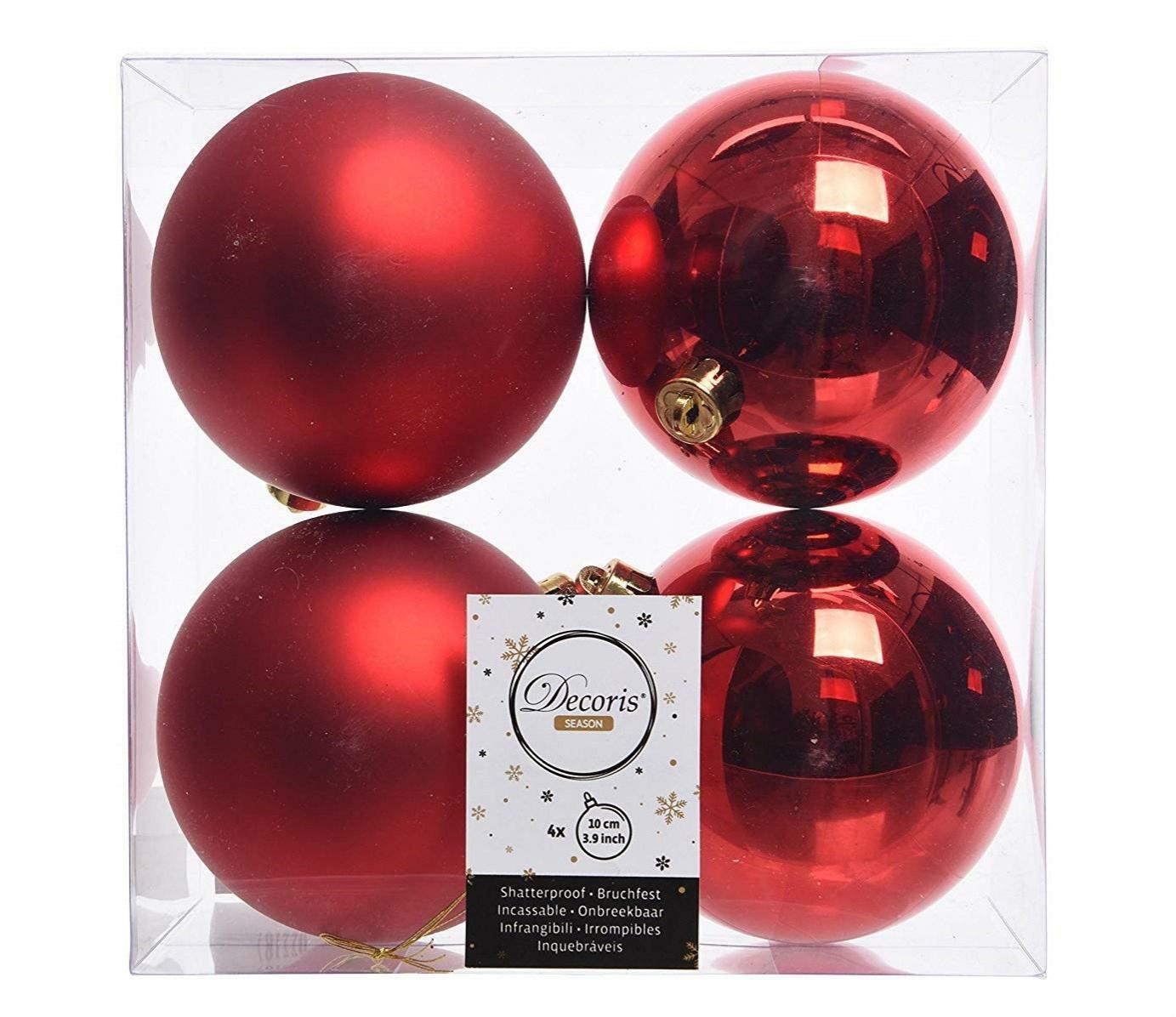 kaemingk kaemingk 4 palle r 10 cm - colore rosso