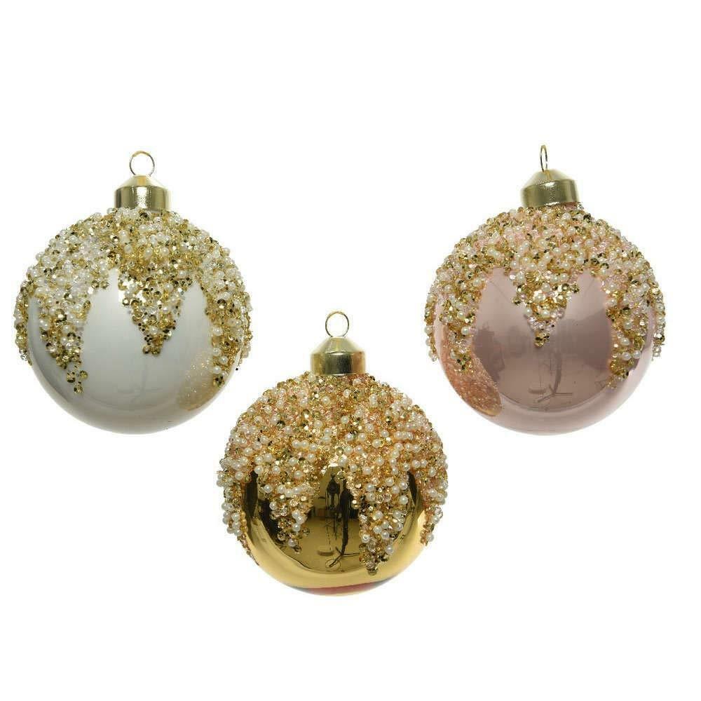 kaemingk kaemingk 1 palla 8 cm vetro decorato perle