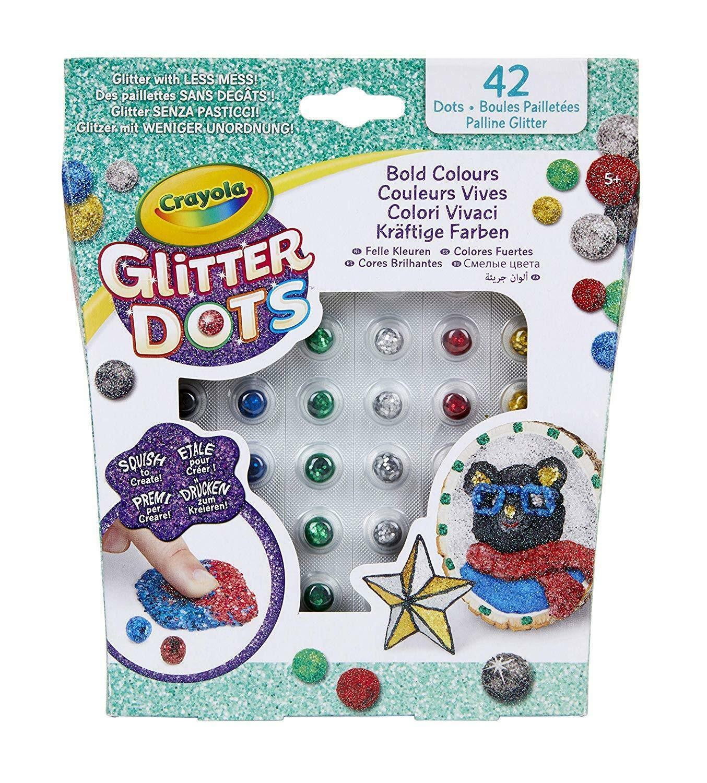 crayola glitter dots - colori vivaci