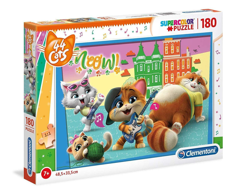 clementoni puzzle 180 pz - 44 gatti