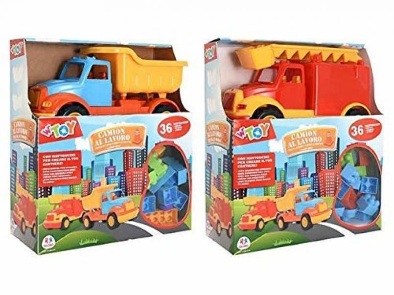globo globo camion con costruzioni